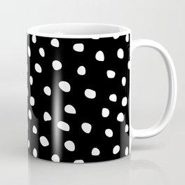 Abstract Dots on Black Coffee Mug