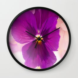 Flower Bouquet in Purple and Pink Colors  #decor #society6 #buyart Wall Clock
