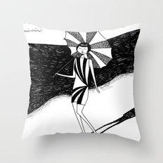 Beach beauty Throw Pillow