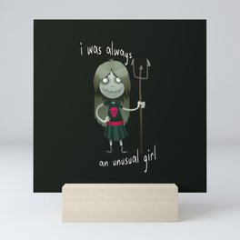 Unusual Series - A Girl and Her Trident Mini Art Print
