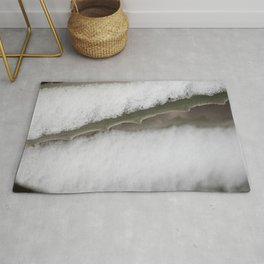 Abstract of Cactus and Snow Rug