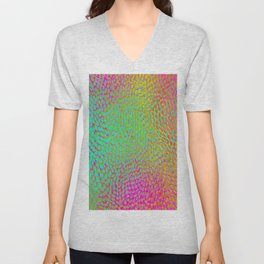 shifting dots in bright color Unisex V-Neck