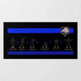 DD CALISTHENICS MUG Art Print