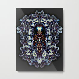 Voodoo Shadow Skull Metal Print