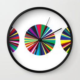 Shapes Prisms Wall Clock