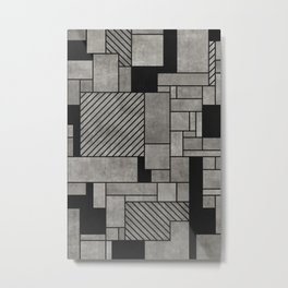 Abstract concrete pattern Metal Print