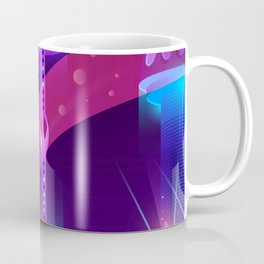 Synthwave Neon City #2 Coffee Mug