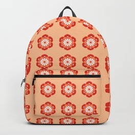 Lotus Flower Mandala, Pastel Orange and Mandarin Backpack