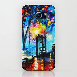 tardis in the rain iPhone Case