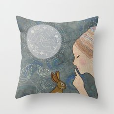 Secret of The March Moon Throw Pillow