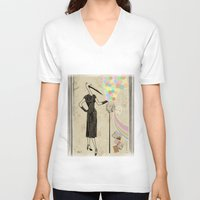 photographer V-neck T-shirts featuring Photographer   by ezop