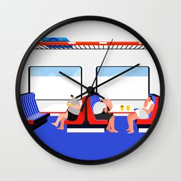 make out on train Wall Clock