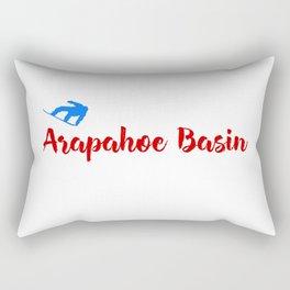 Arapahoe Basin Ski & Snow Fun Rectangular Pillow