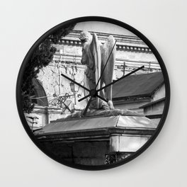 ancient angel on the memorial Wall Clock
