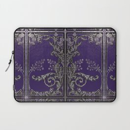 Blue and Silver Thistles Laptop Sleeve