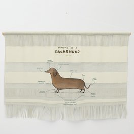 Anatomy of a Dachshund Wall Hanging