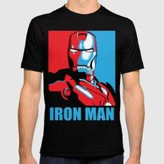 Iron Man Mens Fitted Tee Black MEDIUM