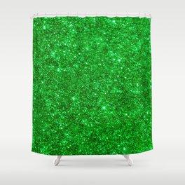 Glitter Green Image Shower Curtain
