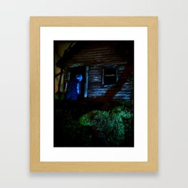 in the dark Framed Art Print