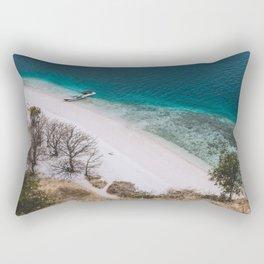 Hot white sand beach Rectangular Pillow
