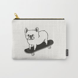 Skateboarding French Bulldog Carry-All Pouch