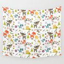 Cute Woodland Creatures Pattern by moonfluff