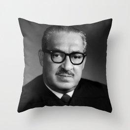 Thurgood Marshall Portrait - 1970 Throw Pillow