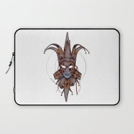 Male Venetian Jester Mask | Watercolor and Colored Pencil  Laptop Sleeve