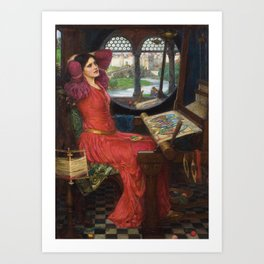 I am Half-Sick Of Shadows Lady of Shalott By John William Waterhouse Art Print