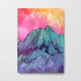 Sunset Sky Mounts Metal Print