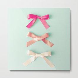 Three silky ribbons Metal Print