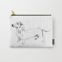 Dachshund Ink Drawing Carry-All Pouch