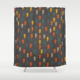Little Christmas trees Shower Curtain