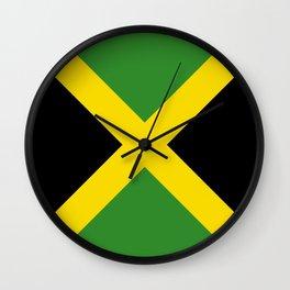 Flag of Jamaica-Jamaican,Bob Marley,Reggae,rastafari,weed,cannabis,ganja,america,south america,ragga Wall Clock