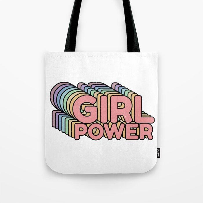 Girl Power grl pwr Retro Tote Bag