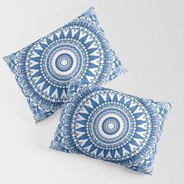 Indigo Blue Mandala Pillow Sham