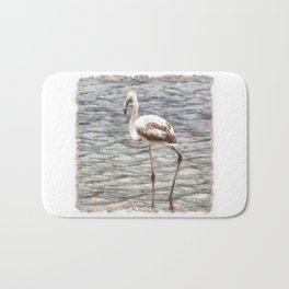 Find Your Footing And Stand Firm Watercolor Bath Mat