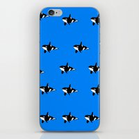 orca iPhone & iPod Skins featuring Orca by Crayle Vanest