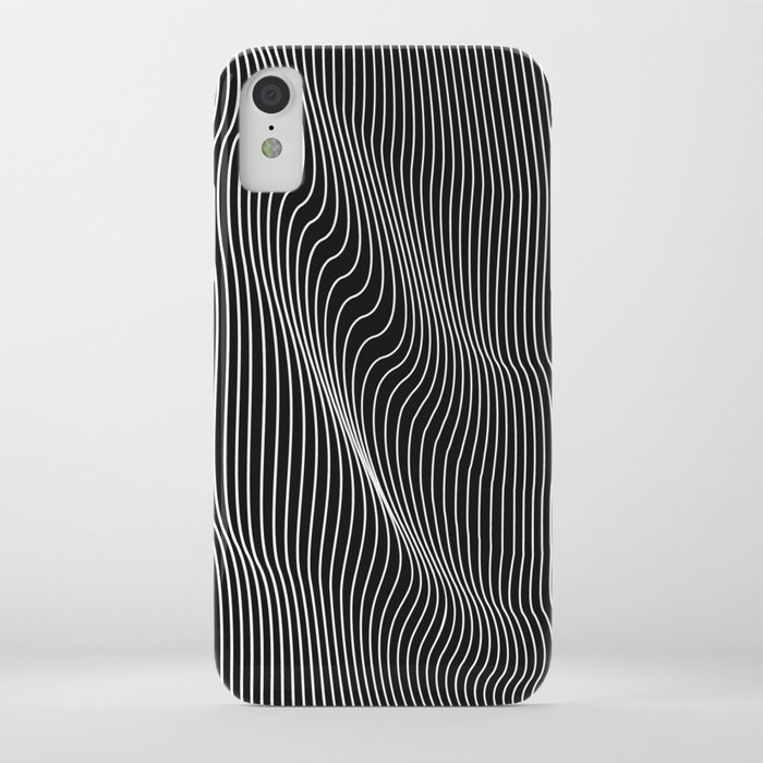 minimal curves black iphone case
