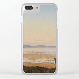 An Evening beside Lake Arresø , Johan Thomas Lundbye (Danish, Kalundborg 1818–1848 Bedsted) Clear iPhone Case