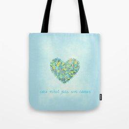 Ceci n'est pas un coeur Tote Bag