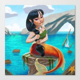 A Villainous Mermaid Canvas Print