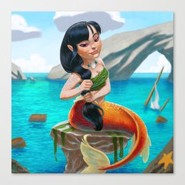 A Villainous Mermaid Canvas Print