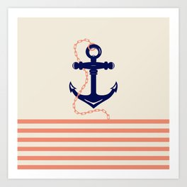 AFE Navy Anchor and Chain Art Print