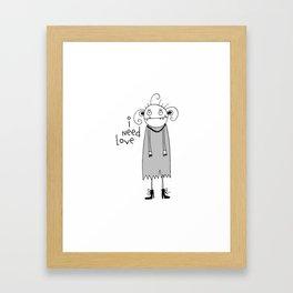 Cute zombie illustration Framed Art Print