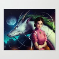 "spirited away Canvas Prints featuring ""Spirited Away"" by PeeGeeArts"