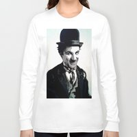 charlie Long Sleeve T-shirts featuring Charlie by AUSKMe2Paint