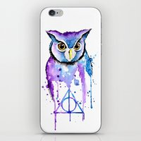 hedwig iPhone & iPod Skins featuring Hedwig by Simona Borstnar