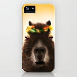 Capybara Shining iPhone Case