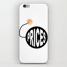 Prices Bomb And Lit Fuse iPhone Skin